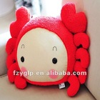 plush crab, sea animal pillow for promotion gifts