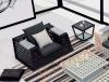 Outdoor furniture, Rattan single sofa CF69X-S9001