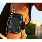 PREMIUM BLACK RUNNING SPORTS GYM ARMBAND CASE COVER FOR iPhone 4 4S etc