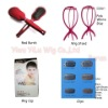 Brush,wig stand,clips and hair net