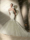 New Style No Risk Shopping Sweetheart Lace Applique Bridal Gown Mermaid White Bridal Wedding Dress 2012