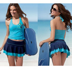 Fresh Two-Piece girls swim skirt