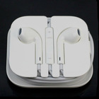 White Handsfree Earphone Headphone with Mic Volume for iPhone 5 5G