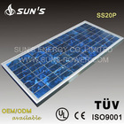 20W Polycrystalline Solar Panel With TUV/IEC Certification