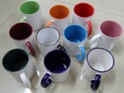 11oz Fringe Color Coated Mug- MT-B003, Grade AA, Dishwasher proof