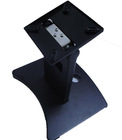 Touch monitor stand with display hole