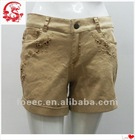 2012 news embroidery designs ladies hot shorts