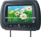 7 inch HD panel Headrest car monitor with dual video and audio, digital screen