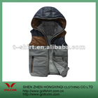 2012 Newest Winter Warmful Vest For Men With Hoodie