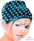 Glitter hair stickers