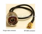 RF Coax Pigtail Cable of N Male to RP SMA Female