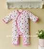 mom and bab 2011 winter baby clothes 100% cotton long sleeve quilted romper