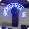 White Self-Programmable Message Flashing Mini Fan