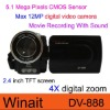 "12.0 MP Digital Camcorder, 2.4"" Previw Screen, Movie Recording With Sound"
