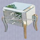 Silver bevel mirror modern stylebedside table