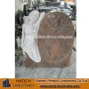 muticolor red granite tombstone with etching angel