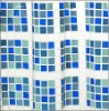 polyester blue and white check fabric