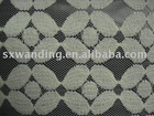 nylon polyester printed lace jacquard fabric