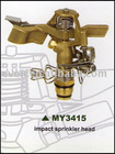 Metal impact lawn sprinkler head for garden irrigation MY3415