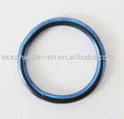 New Stainless Steel 316L Titanium Anodized Cobalt Blue Dark Blue Semless Segment Captive Body Piercing Jewelry