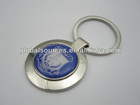 Promotion Metal Round Keychain with Epoxy Dome Sticker