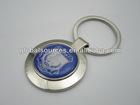 Promotion Metal Round Keychain with Epoxy Dome Sticker