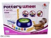 Battery operated pottery wheel