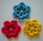 Hand Crochet Flower with Beads Made in China (KCC-HCF00211)