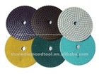 3 Step Stone Diamond Wet Polishing Pad Tools