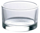 glass candle cup, holder