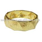 Spring Bracelet,Gold Tone Interrupted Link Bracelet