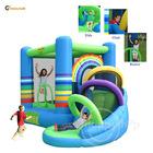 Rainbow Castle-9313 Rainbow Bouny Castle with Slide