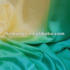 green ombre glossy silk satin dress fabric