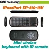 iPazzPort 2.4G Handheld Mini Wireless Keyboard Mouse Touchpad IR Remote & Voice Speaker Microphone QWERTY+Backlight KP-810-18V