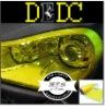 "122cmx30cm 48""x12"" Yellow Head lights Tail lights Vinyl Film Sheet Overlays art1"
