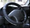 black PU fur steering wheel cover