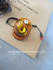 12 Volt amber magnetic revolving warning light with 2.5m cord