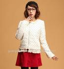 2012 woman fashion dot cotton jacket