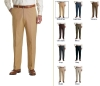 Men's Plain-Front Fluid Stretch Dress Trousers