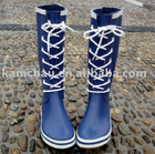 Special lace rubber rain boots (Fashion)