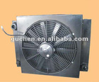 aluminium plate fin hydraulic oil cooler for concrete pump truck