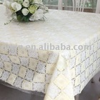 Vinyl lace table cloth,PVC Lace tablecloth,table protector - Helen Li