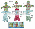 hot sale fashion 100% cotton winter baby clothes with sweater