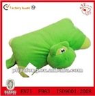 Green plush frog polyster pillow pets