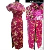 Chinese tradition clothes long dress Cheong-sam Qipao