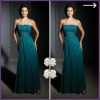 New Style Seeveless Ruffl Applique Chiffon Sheath High Quality Mother Of Bride Dress 2012