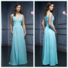 2011 New Fashion V Neck A-line Sleeveless Pleated Ankle-Length Chiffon Bridemaid Dress
