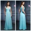 2011 New Fashion V Neck A-line Sleeveless Pleated Ankle-Length Chiffon Bridemaid Dress