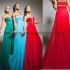 Sweetheart beaded ruched long girls custom-made red evening prom dress CWFae4958