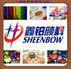 Sparkling pearlescent pigment powder used for cosmetics